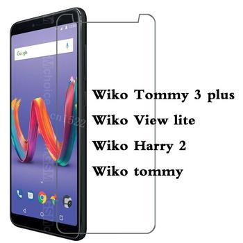 Перейти на Алиэкспресс и купить Ультратонкое закаленное стекло для Wiko tommy View lite Harry 2 Tommy 3 plus, защитная пленка для экрана, чехол для телефона Q