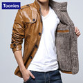 Leather Jacket Men Cheap Leather Motorcycle Jackets Cashmere Faux Leather Suit PU Leather Jacket Type Male Thick Outwear Coats
