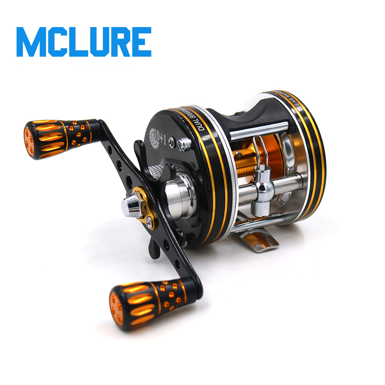 Baitcasting Reel 5.3:1 Gear Ratio 10+1 Ball Bearing Pure Metal Casting Reel Drum Wheel Boat Sea Fishing Reel rover drum saltwater fishing reel pesca 6 2 1 9 1bb baitcasting saltwater sea fishing reels bait casting surfcasting drum reel