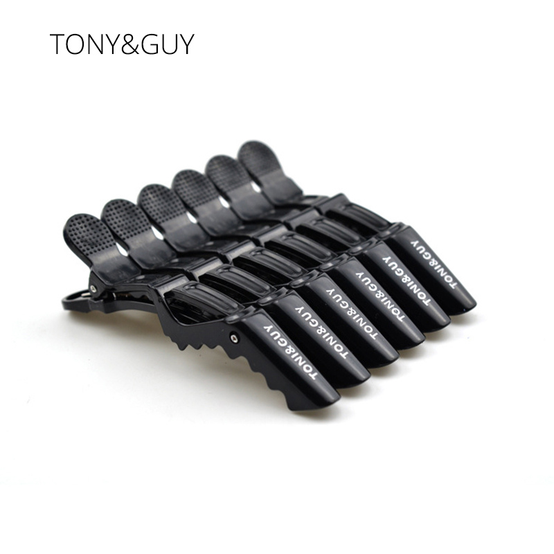 TONY&GUY 5Pcs/Lot Professional Alligator Hair Clip For Women Plastic Bobby Pin Hairpins Bow Hair Clips For Girls Styling Tools