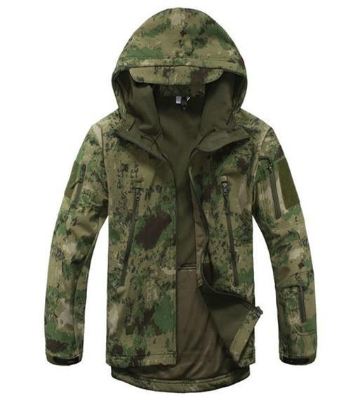 Военное Дело тактическая куртка скрытень Акула кожи Soft Корпуса V4 Для мужчин Куртка из искусственной кожи PU Камуфляж Охота армии одежда бурелом