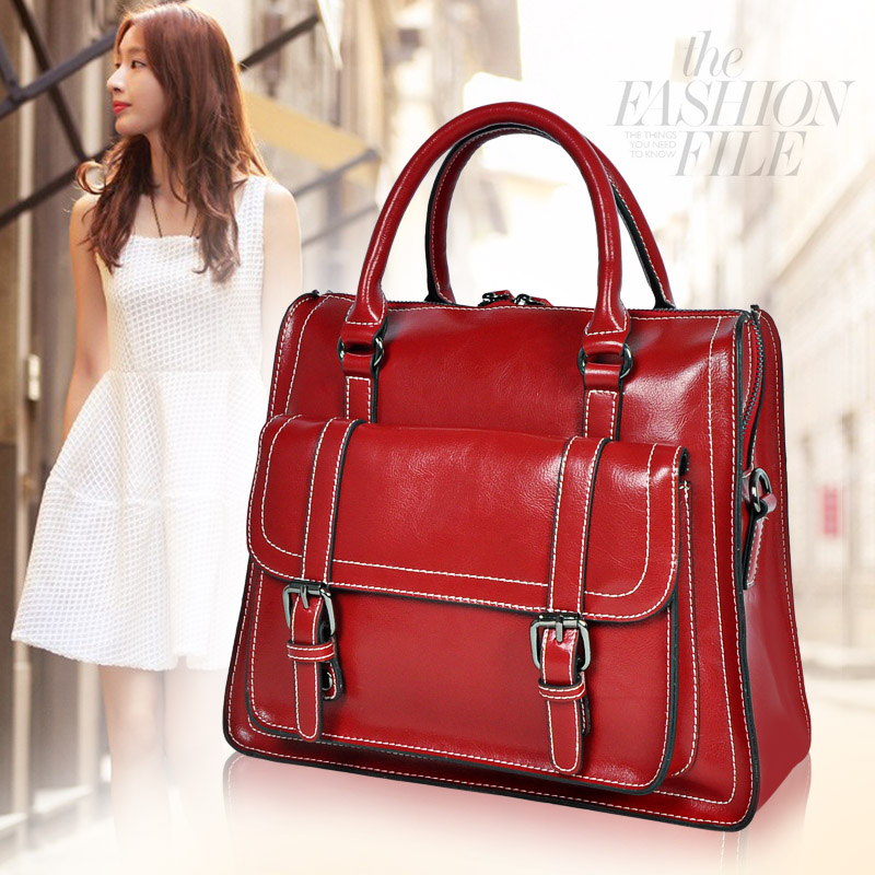 New fashion genuine leather bag brand women handbag shoulder bag cross-body bag female leather messenger bags freeshipping