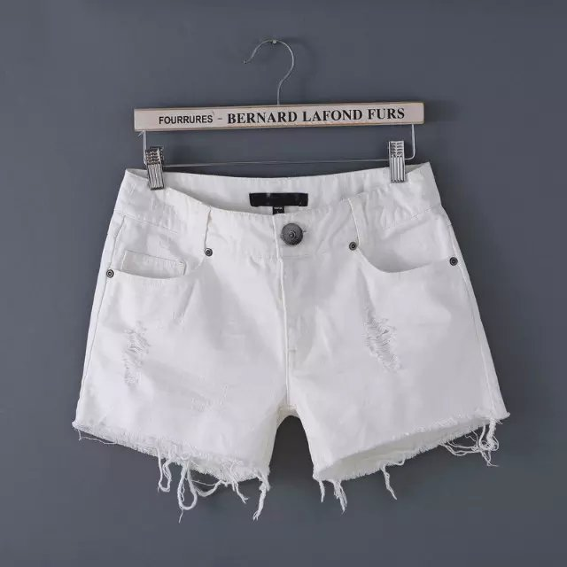 New Fashion branco Shorts Jeans magro ocasional Jeans Shorts Casual meninas calças curtas selvagem magro mulheres Shorts AF0285