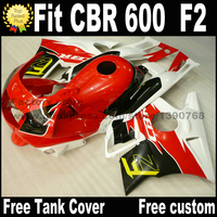 Kit del carenado de plástico aptos para la HONDA CBR 600 F2 1991 1992 1993 1994 rojo negro blanco set de carenados CBR600 91 92 93 94 AS10