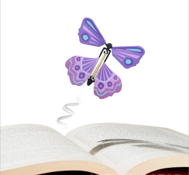 1pc magique volant papillon simulation enfants jouets créatifs puzzle amusant entier décompression magique accessoires astuce cadeau créatif