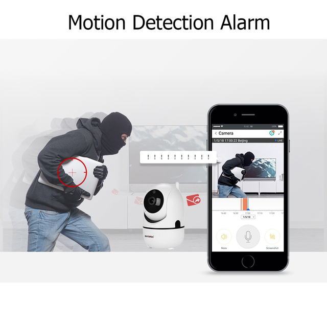 SECTEC Cloud Wireless IP Camera 1080P Intelligent Auto Tracking Of Human Home Security Surveillance CCTV Network Wifi Cam 2