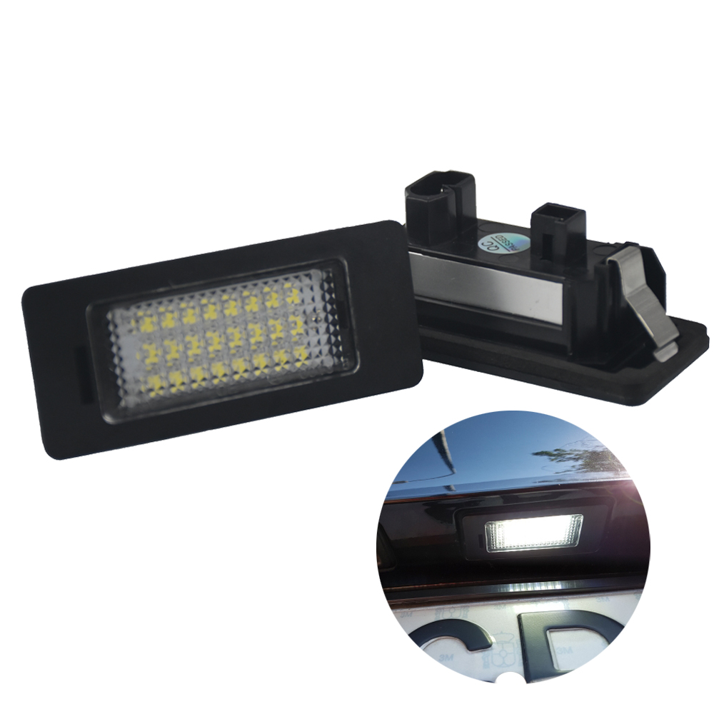 2pcs Car Led License Plate Light 12v White 6000K For BMW E39 E60 E82 E90 E92 E93 E70 X5 E61 M5 E88 X6 E70 E71 E72 X6 e cap aluminum 16v 22 2200uf electrolytic capacitors pack for diy project white 9 x 10 pcs