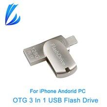 COMERCIANTE LL 32/64 GB IOS i-flash Drive Para el iphone iPad iPod iMac PC USB 2.0 OTG USB Flash Drive Memory Stick Pendrive 128G U disco