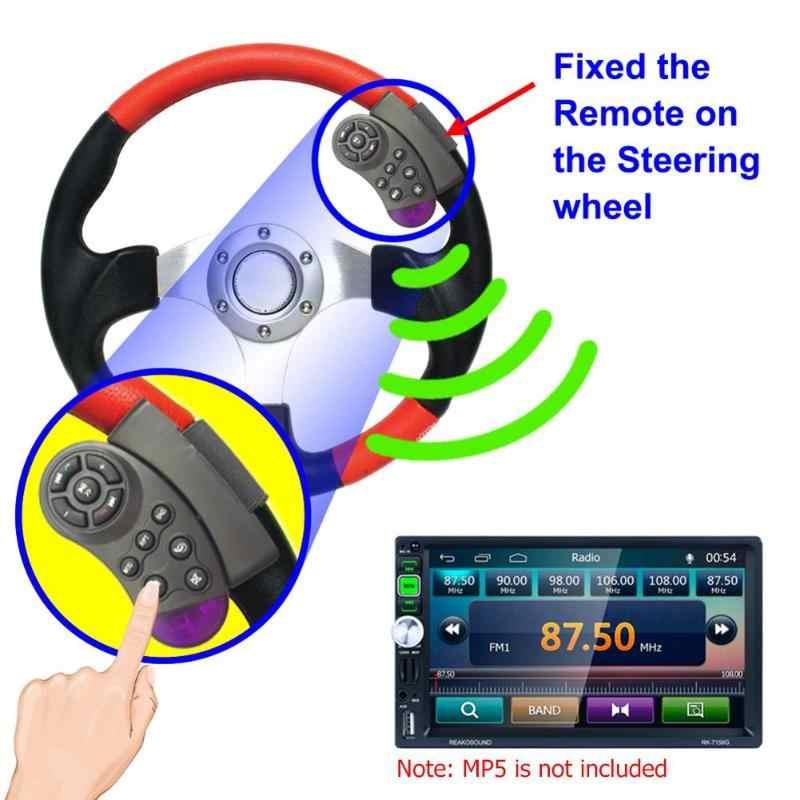 11 キーステアリングホイールボタンリモートキー車のため MP5 マルチメディアプレーヤー CD DVD VCD ステアリングホイールワイヤレスリモート制御