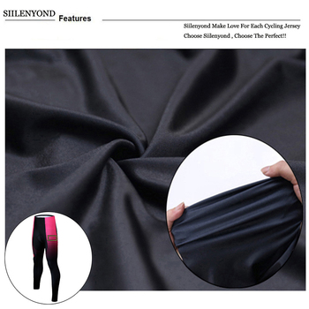 Siilenyond 2019 Pro Women Winter Thermal Cycling Pants MTB Bicycle Cycling Tights Mountain Bike Trousers With 3D Gel Padded 4