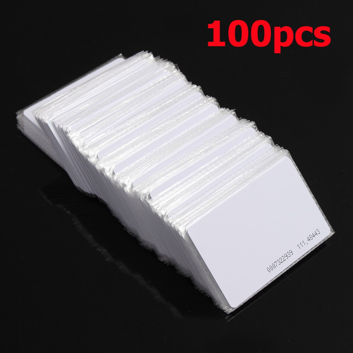 125khz em4100 door entry access blank white proximity rfid clamshell thick card thickness 1 9mm pack of 10 100pcs RFID 125KHz Proximity Door Control Entry Access EM card-0.9mm- card