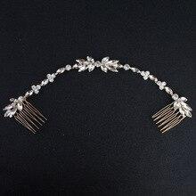 Свадебные разбросанные стразы, повязка на голову, свадебная цепочка, гребень для невесты, головной убор для подружки невесты, золотые украшения для волос, аксессуары в стиле бохо-шик