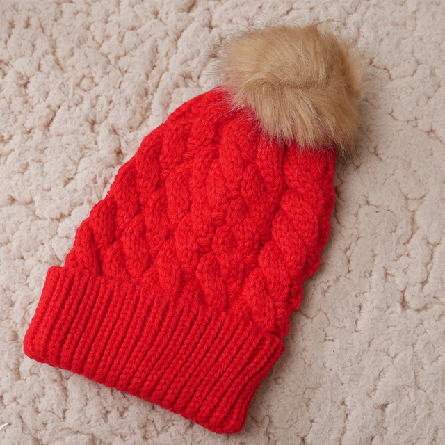 1Pc Fashion Candy Colors Baby Knitting Keep Warm Hat Women Winter Hat  Family Matching Outfits Mom Baby Hats d03ff22b3d50