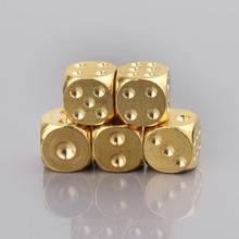 1 Pc In Ottone Dadi In Metallo Solido Poliedrici Club Bar Dadi Gioco di Strumento di 15X15X15mm