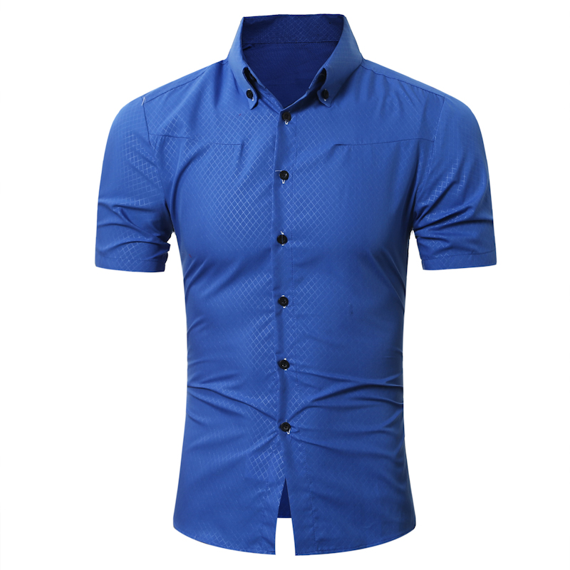 Brand 2017 fashion male hawaiian shirt short sleeves tops for Top dress shirt brands