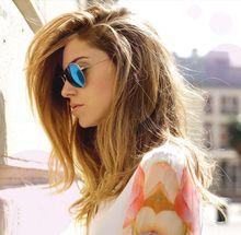 Designer Aviation Mirror Sunglasses UV400