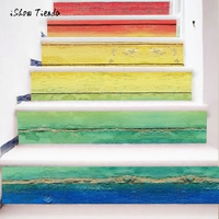 Hot Selling DIY Steps Sticker Colorful Wood Grain Stairs Decals Removable Stair Sticker Home Decor