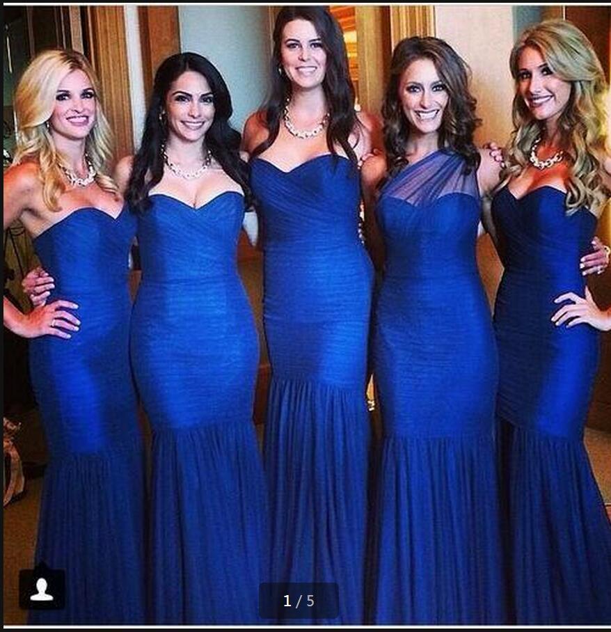 3d284a5a8 Vestidos de damas de honor azul rey – Vestidos de boda
