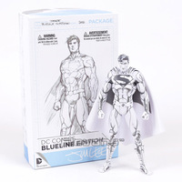 DC COMICS Superman / Batman Blueline Edition PVC Action Figure Collectible Model Toy