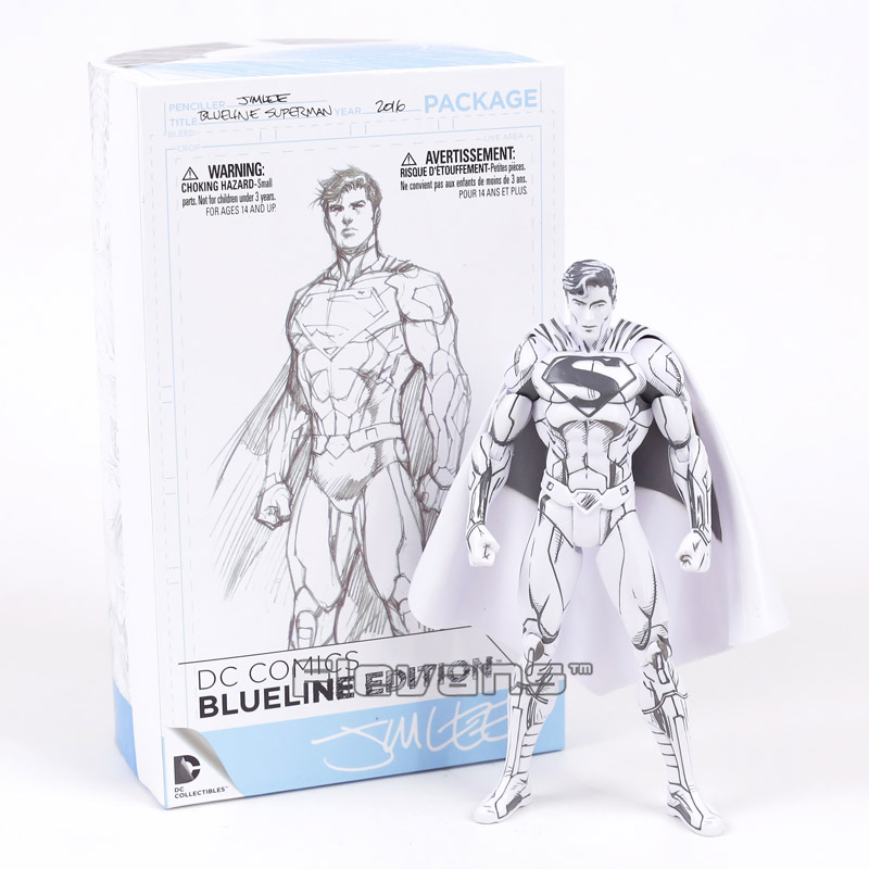 DC COMICS Superman / Batman Blueline Edition PVC Action Figure Collectible Model Toy neca dc comics batman superman the joker pvc action figure collectible toy 7 18cm 3 styles
