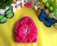 free shipping,600pcs/lot baby boy girl beanie knitted summer sun hat cap +daisy flower
