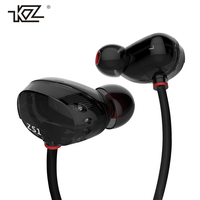 KZ ZS1 Dual Driver Earphones Stereo Hifi DJ Headphone With Microphone Professional Music Headset For Music