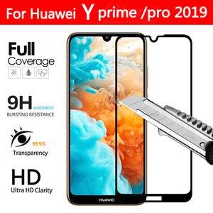 Защитное стекло y6 pro, закаленное стекло с полным покрытием для Huawei Y5 Y6 Y7 prime pro 2019