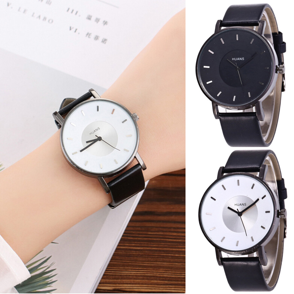 Fashion Woman Men Watch Womens Quartz A Birthday Present Gift Ladies Watches Leather Strap Bracelet For In From