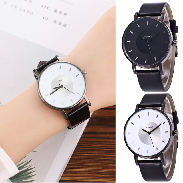 Fashion Woman Men Watch Womens Quartz A Birthday Present Gift Ladies Watches Leather Strap