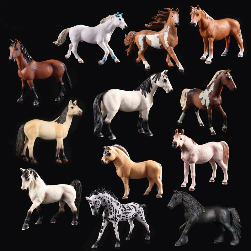 Simulated Animal <font><b>Horse</b></font> <font><b>Model</b></font> Solid Emulation Action <font><b>Figure</b></font> Learning Educational Kids <font><b>Toys</b></font> for Boys Children Purebred Black <font><b>Horse</b></font> image