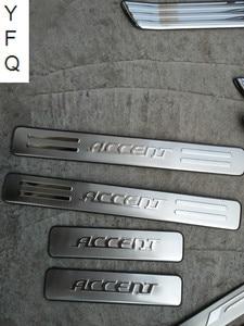 Автомобильные Чехлы, 304 нержавеющая сталь, боковая крышка порога/накладка пластины, 4 шт./компл., подходит для Hyundai Accent 2006-2013, автозапчасти