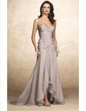 Heißer Verkauf 2015 Schatz-falte Lange Chiffon Mermaid Abendkleid Frauen Prom Kleid Robe de Soiree