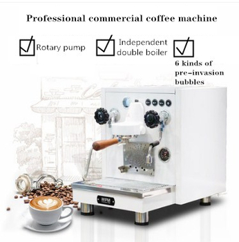 Welhome/WPM KD-410 kahve makinesi profesyonel ticari İtalyan yarı otomatik döner pompa buharlı süt köpüğü kafeterya
