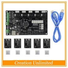 3D Printer Parts MKS Gen V1.4 Control Board Mega 2560 R3 Motherboard Ramps1.4 Compatible with USB and 5PCS BIGTREETECH TMC2100
