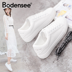 BODENSEE White Sneakers Women Canvas Shoes Women Fashion Vulcanize Shoes Summer Casual Zapatillas Mujer
