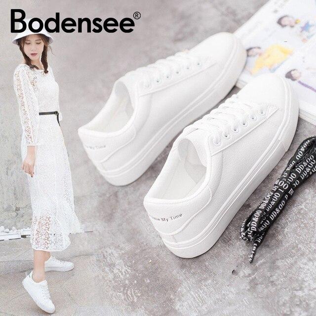 BODENSEE לבן סניקרס נשים בד נעלי נשים אופנה לגפר נעלי קיץ מקרית Zapatillas Mujer