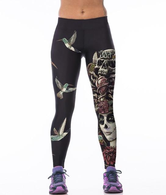 ebed654964077a Ptak 3D legginsy z wysokim stanem z nadrukiem Fitness sportowe legginsy  ubrania do ćwiczeń dla kobiet