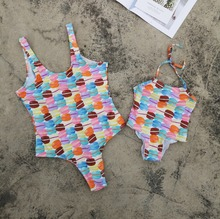 Family Swimwear Mother Daughter Swimsuits Mommy and Me Clothes Outfits Matching Look Mom Baby Girl Bikini Dress