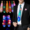 Fashion LED Flashing Light Up Sequin Bowtie Necktie Mens Boys Party Bow Tie Wedding Gift 5pcs/lot