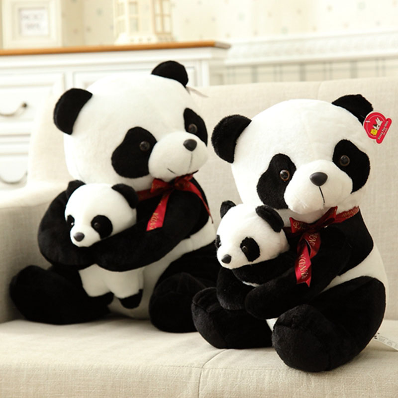 40cm 50cm Cute Panda Plush Toy Simulation Panda Stuffed Soft Doll Animal Plush Kids Toys High Quality Children Plush Gift D72Z 1pcs 22cm fluffy plush toys white eyebrows cute dog doll sucker pendant super soft dogs plush toy boy girl children gift