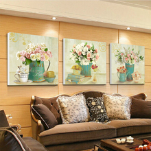 Canvas painting 3 Panel  Paintings Living Room Home Decor Painting the wall rose hep pictures for living room