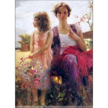 Decoration oil painting child and mother Pino Daeni modern landscape art canvas wall pictures for living room
