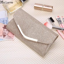 Brand new Evening Party Clutch Bag Hot Ladies Upscale Small Gold Clutches Purse Handbag 1pcs Nov25(China)
