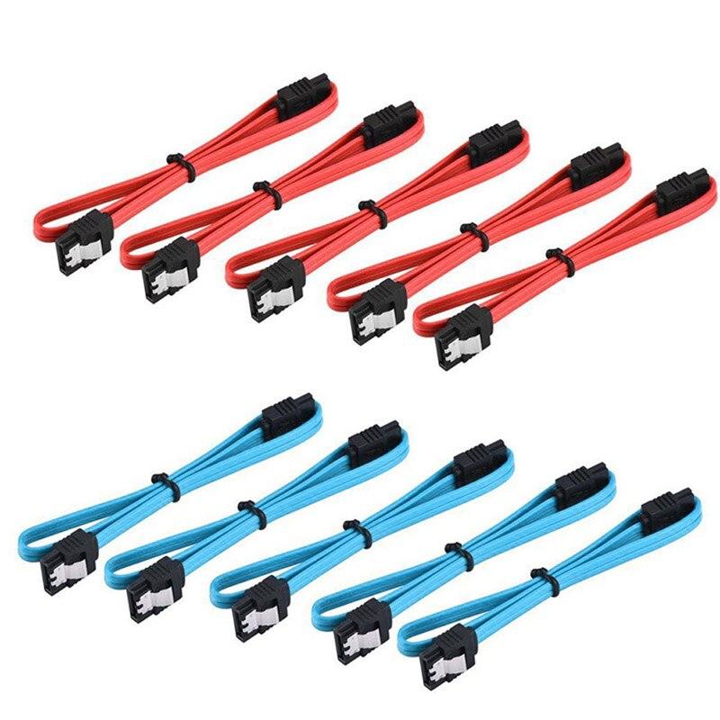 5 Pièces 18 Pouces Connecteur Droit SATA 3.0 III Haute Vitesse 6.0 Gbps Câble De Données Avec Loquet De Verrouillage Q99 DJA99