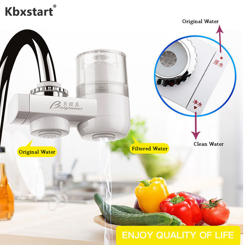 Family Water Filtrator Faucet-Mounted Filter Water Cleaning Strainer Healthy Ceramic Cartridge Tap Water Purificador Percolator