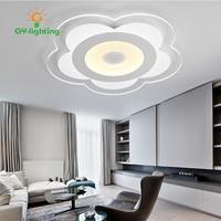 LED простой ультратонкие в форме цветка Гостиная потолок Освещение smart затемнения акрил Спальня комнаты Потолочные светильники