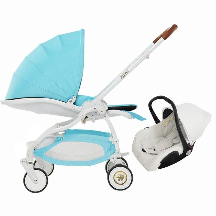 Aulon baby brand baby stroller 3 in 1 car seat baby carriage face mum newborn baby car sleeping bed stroller