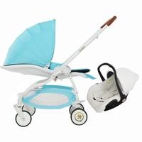 Aulon Baby Brand Baby Stroller 3 In 1 Car Seat Baby Carriage Face Mum Newborn Baby