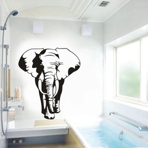 3D Creative African Elephant Wall Sticker Animal Wall Posters Room Accessories Home Decor Decoration Adesivo De Parede Murals african elephant