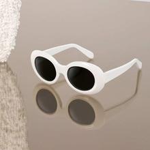 White Cat Eye Oval sunglasses bella hadid Instagram photo sunglasses bella hadid Vintage NIRVANA Kurt Cobain Round Sunglasses